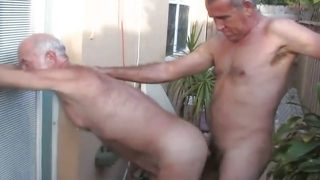 Four Daddies fucking and awesome cum eating