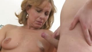 Pretty Hot Mom With Young Boy